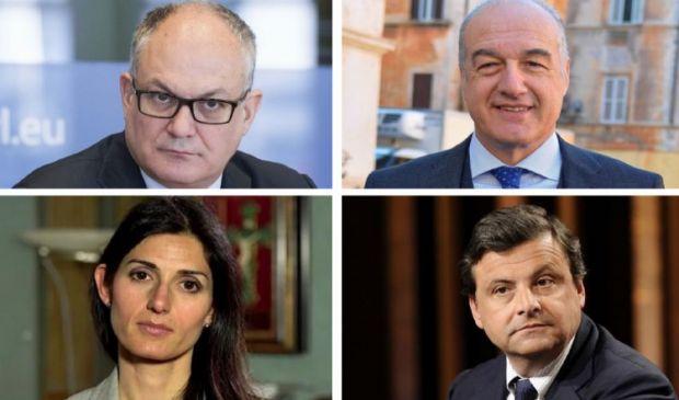 Gualtieri, Michetti, Raggi e Calenda: la corsa a 4 per il Campidoglio