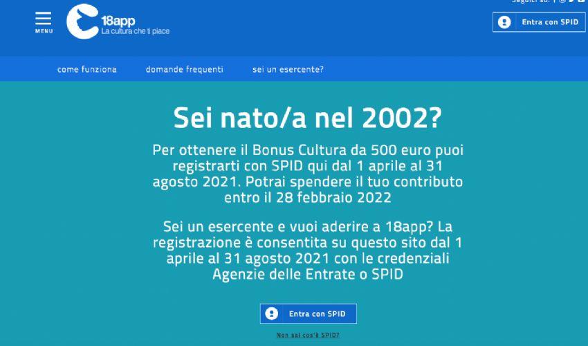 18app, bonus cultura 2021 500€: cos'è come fare registrazione 1 aprile