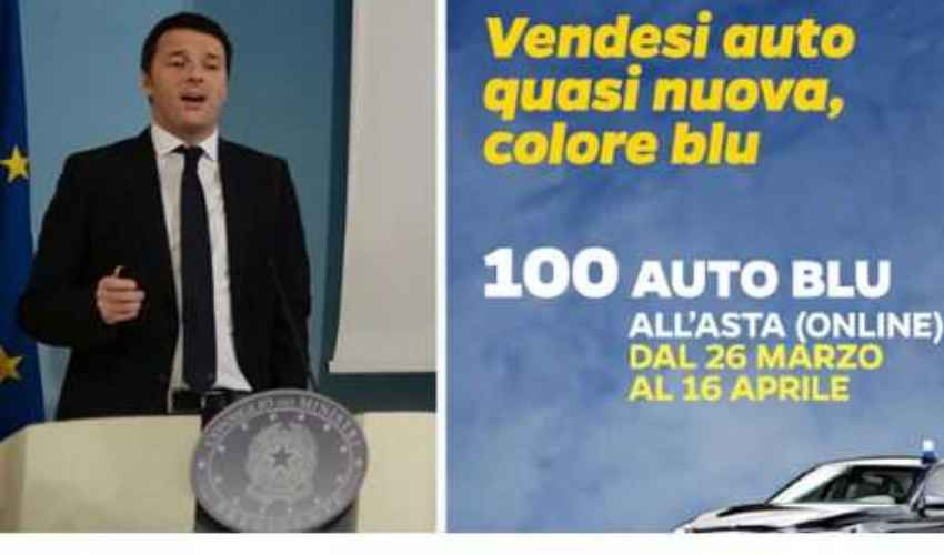 Auto blu asta su eBay, voluta da Renzi, cos'era e come funzionava