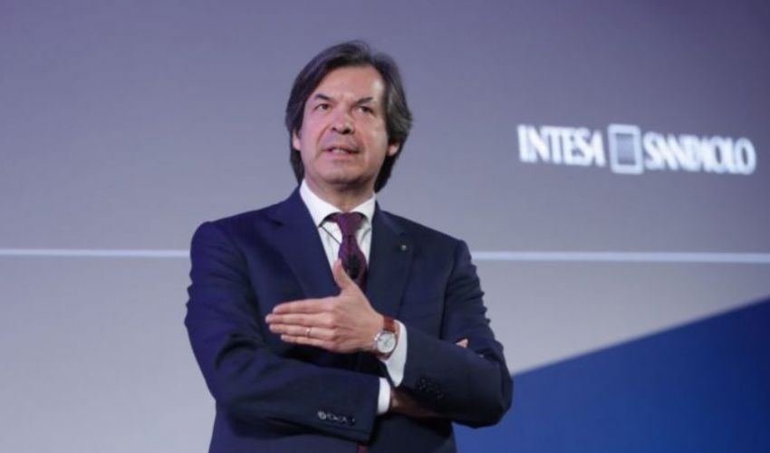 Carlo Messina con Mattarella e Draghi: serve crescita inclusiva