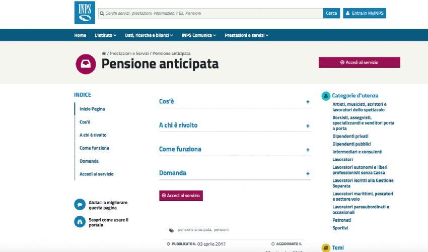 Pensione anticipata 2021 Inps: cos'è, requisiti donne uomini, domanda