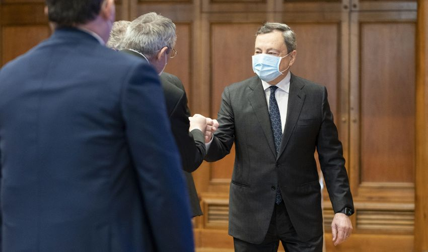 PNRR, Draghi incontra parti sociali. Bonomi: serve visione strategica