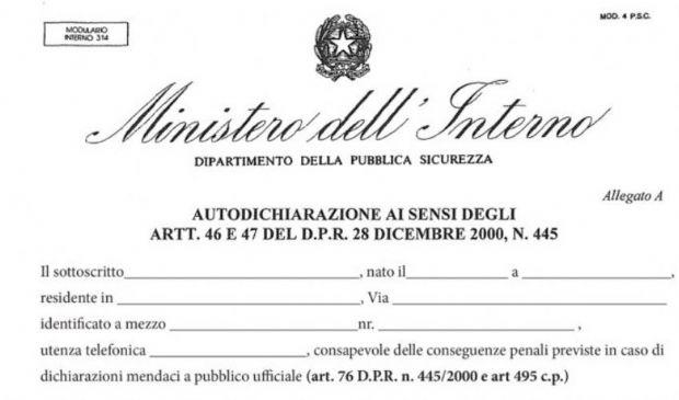 Autocertificazione Lombardia e Campania: cos'è e nuovo modulo in pdf
