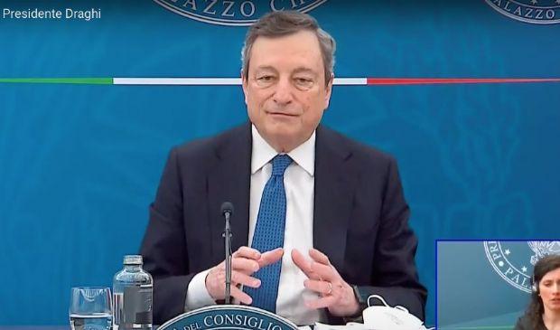 """Assegno unico, Draghi: """"arriva il primo luglio, 250 euro al mese"""""""