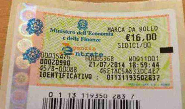 Marca da bollo 16 euro: cos'è quando dove si usa applica come si paga