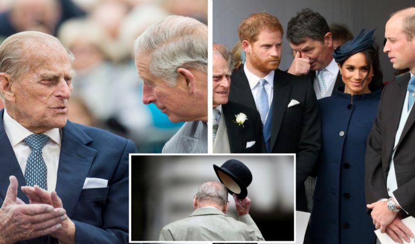 Il principe Carlo, William e Harry ricordano il principe Filippo