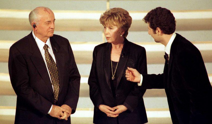 Quando Gorbaciov partecipò con Raissa al Festival di Sanremo