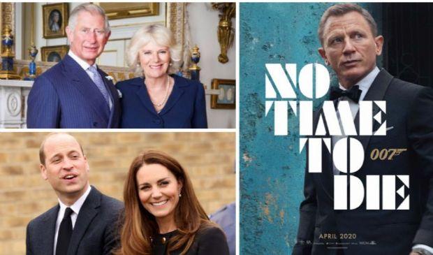"""Carlo, Camilla, William e Kate all'anteprima di """"No Time to Die"""""""