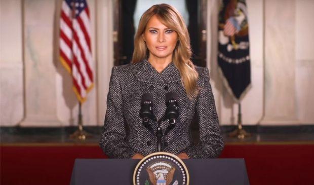 Melania Trump, dice addio alla Casa bianca ma nel video dimentica Jill
