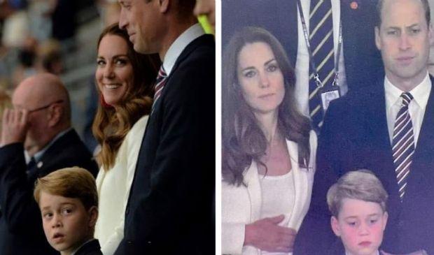 Wembley: Kate, William e George dalla gioia al mal di pancia