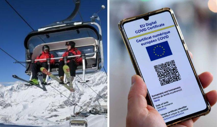 Green Pass per sciare: cosa prevede il protocollo per le piste di sci
