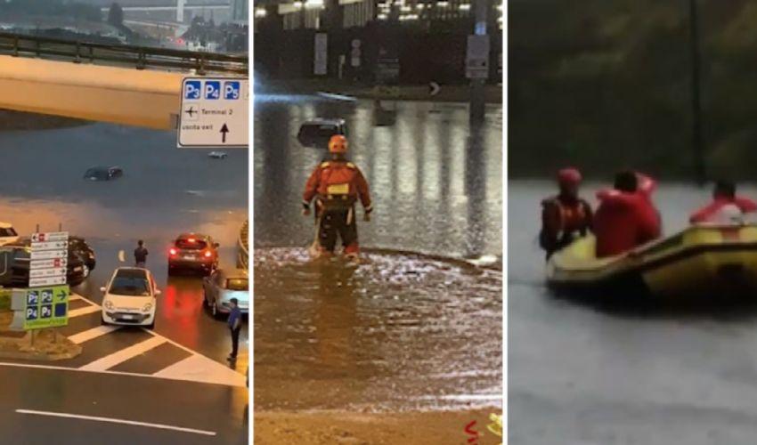 Nubifragi, evacuati in gommone a Malpensa. Ma l'estate non è finita