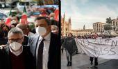 """Giornata di cortei: a Roma """"No ai fascismi"""", a Milano """"No Green pass"""""""