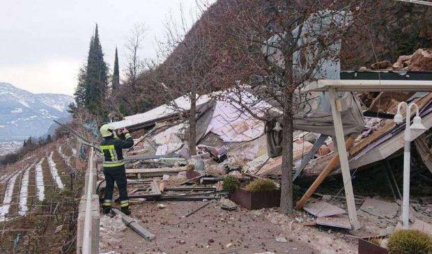 Neve e frane, in Alto Adige distrutto un hotel. Allerta in 9 regioni