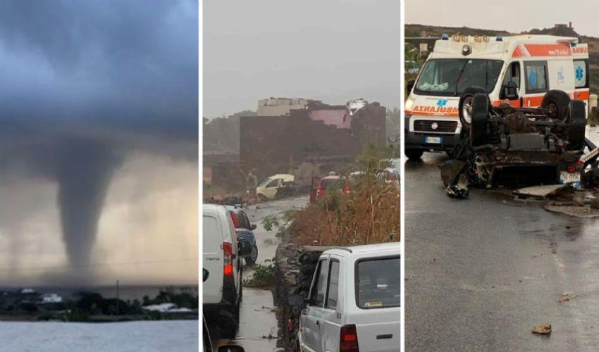 Tromba d'aria a Pantelleria, vittime e dispersi. Oggi lutto cittadino