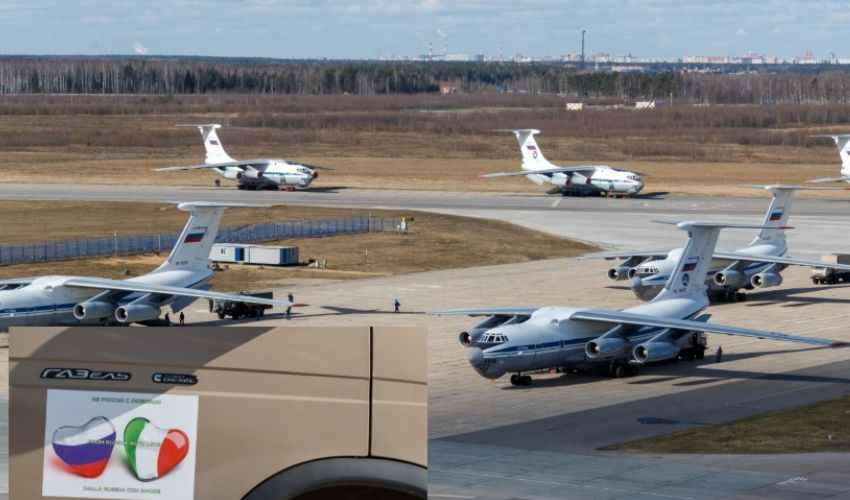 Coronavirus Russia, Putin: arrivati i 9 aerei di aiuti in Italia