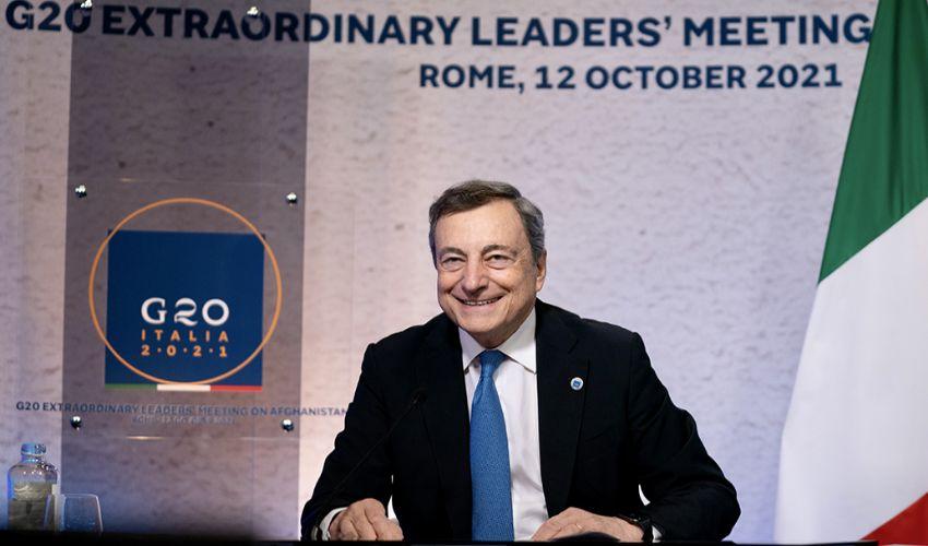 "G20 Afghanistan, Draghi mette d'accordo tutti: ""Agire immediatamente"""