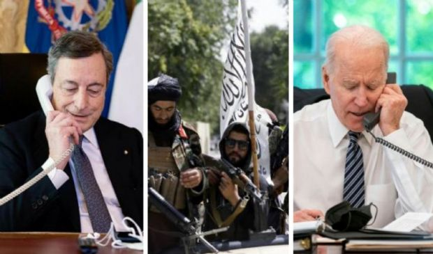 """Afghanistan, telefonata Draghi-Biden: """"Occorre convocare il G7"""""""