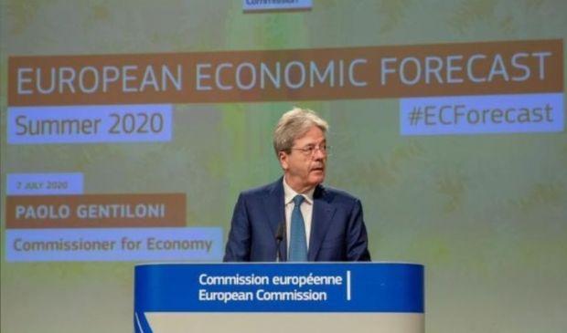 Ue: recessione, le nuove stime. Calo record PIL 2020, in Italia -11,2%