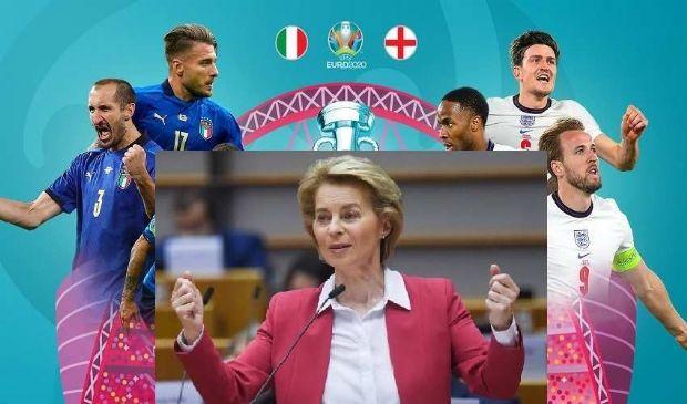 Italia vs Inghilterra: Von der Leyen e tanti in Ue tiferanno Azzurri