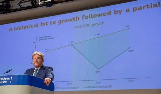 Gentiloni su crescita e recovery: previsioni economiche inverno 2021