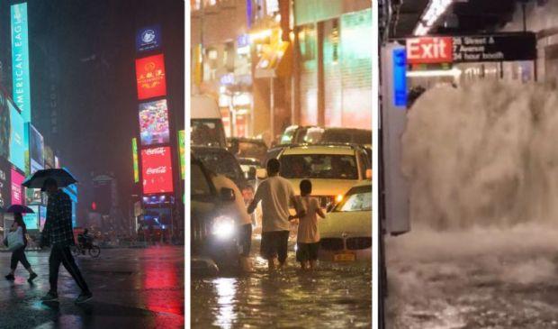"""New York allargata e paralizzata. Colpa della """"coda"""" dell'uragano Ida"""