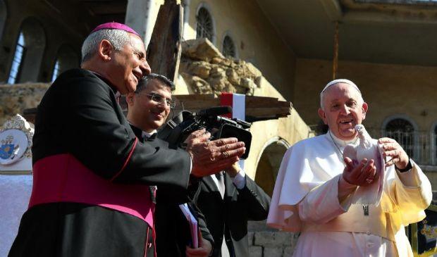 """Papa, Messa a Mosul: """"La fraternità più forte del fratricidio"""""""