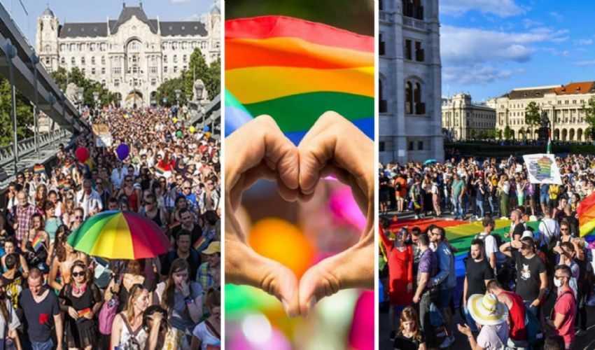 Budapest si tinge di arcobaleno per il Gay Pride e pro diritti LGBT