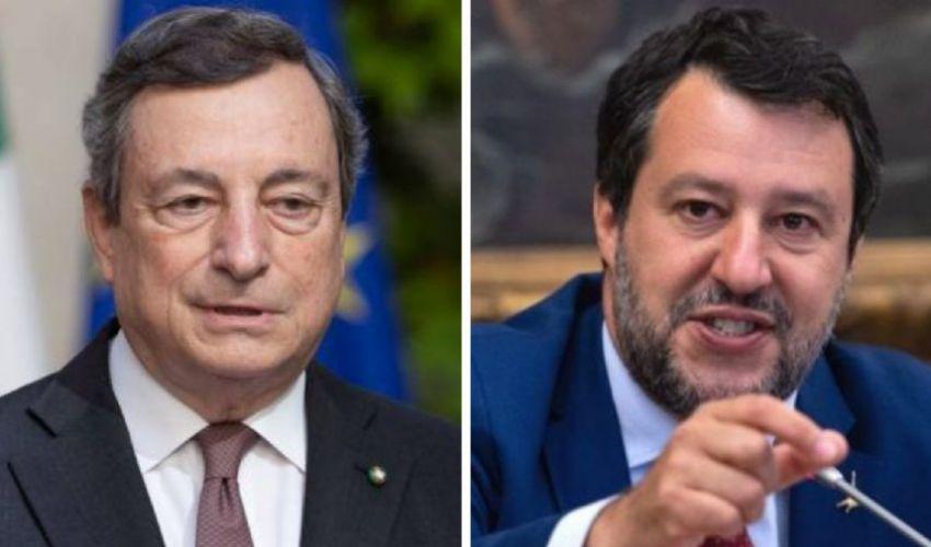 Ammuina e tatticismi nella gabbia di Draghi, Salvini scherza col virus
