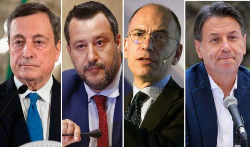 Draghi, il duello tra Salvini e Letta e le incertezze di Conte