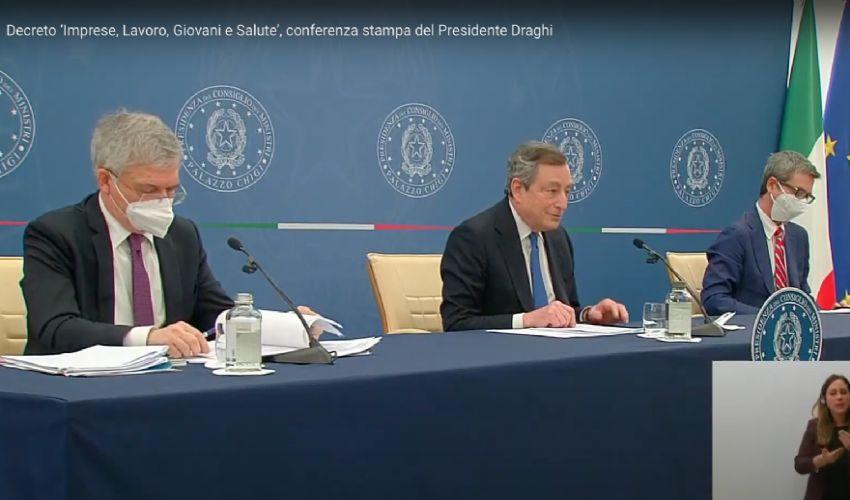 """Decreto Sostegni Bis, il Premier Draghi: """"Non lascia indietro nessuno"""""""