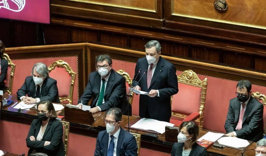 Discorso politico e di legislatura, Draghi presenta il governo