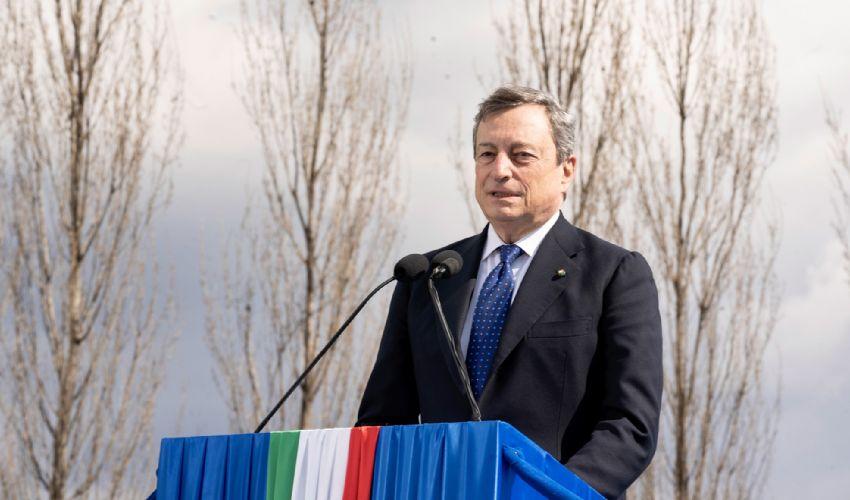 """Il premier Draghi a Bergamo: """"Ricostruire senza dimenticare"""""""