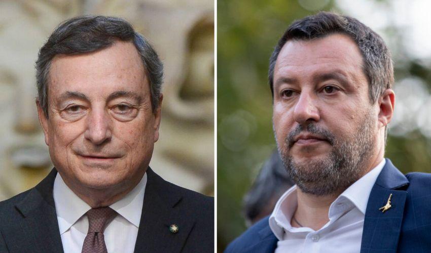 Salvini cambia idea e fa pace con Draghi. È tornato il sereno?