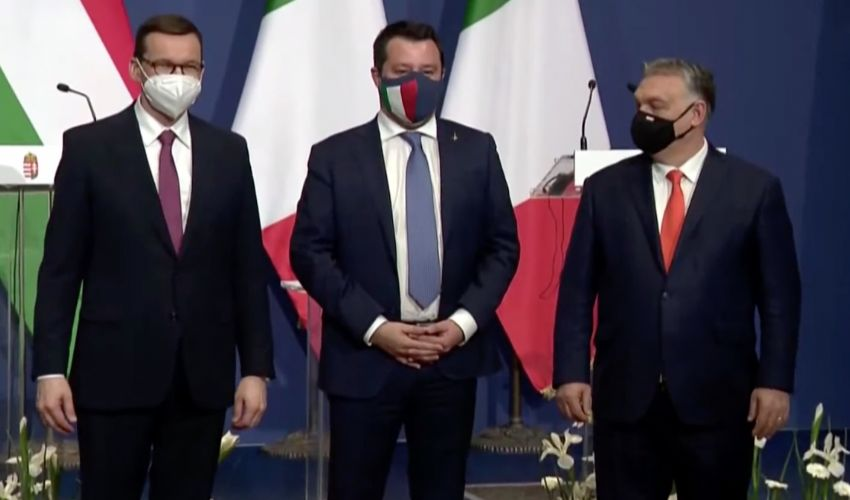"""Salvini con Orban e Morawiecky: """"Saremo il primo gruppo in Europa"""""""