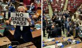 Green Pass, bagarre alla Camera: Fratelli d'Italia occupa l'Aula