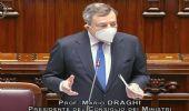 Il premier Draghi spiega ai deputati lo stato dell'arte del Paese