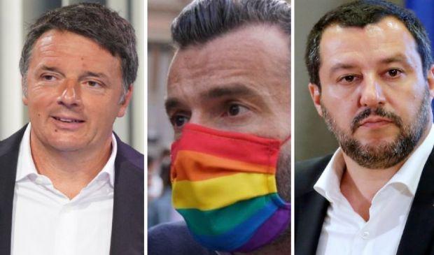Ddl Zan, Renzi con Salvini contro Pd e M5S. È muro contro muro