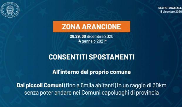 Italia zona arancione oggi 30 dicembre: regole e autocertificazione