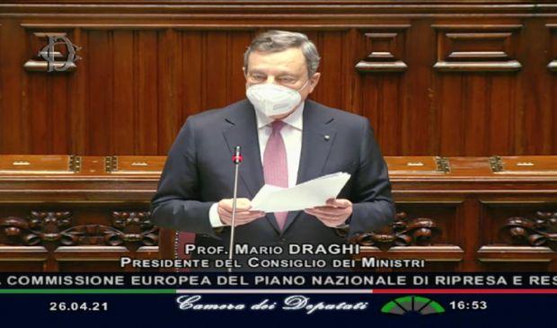 """Draghi alla Camera: """"Nel Recovery Plan c'è il destino dell'Italia"""""""