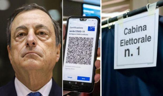 Draghi pronto a sganciare l'arma finale: Green pass anche per votare