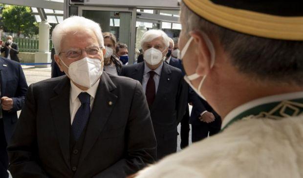 """Mattarella a Brescia: """"Questo è il tempo del rilancio comune"""""""