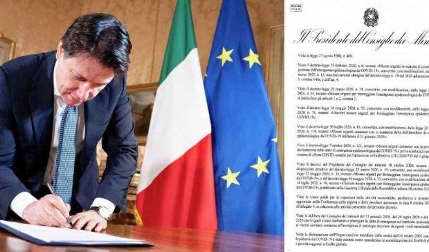 Nuovo Dpcm 25 ottobre, Conte firma, conferenza stampa ore 13:30