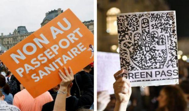 No Green Pass in corteo dalla Francia all'Italia. Martedì il decreto