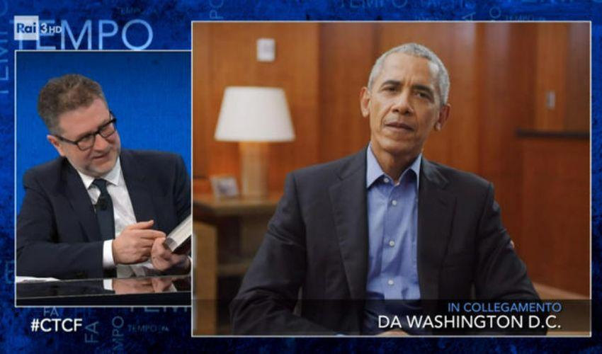 """Che tempo che fa, Obama: la vita alla Casa Bianca? """"Non è come sembra"""""""