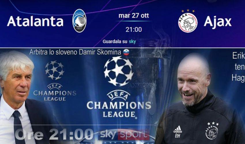 Champions League: Atalanta-Ajax 2-2, Shakhtar-Inter 0-0