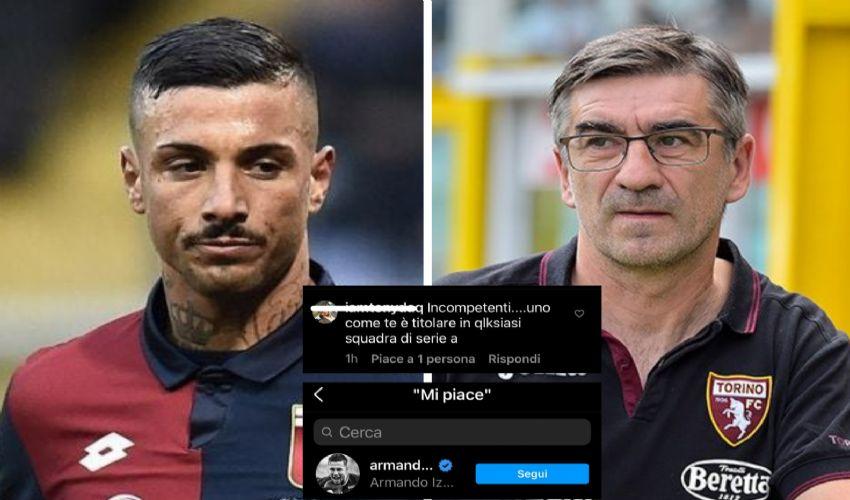 Gelo in casa Torino: Izzo mette like a un commento contro l'allenatore