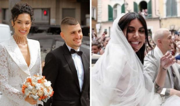 Bernardeschi-Verratti sposano da campioni d'Europa Veronica e Jessica