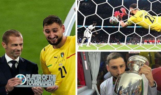 Donnarumma, a 22 anni, è il miglior giocatore di tutto l'Europeo