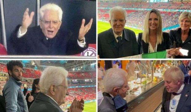 Mattarella a Wembley festeggia la vittoria dell'Italia intera